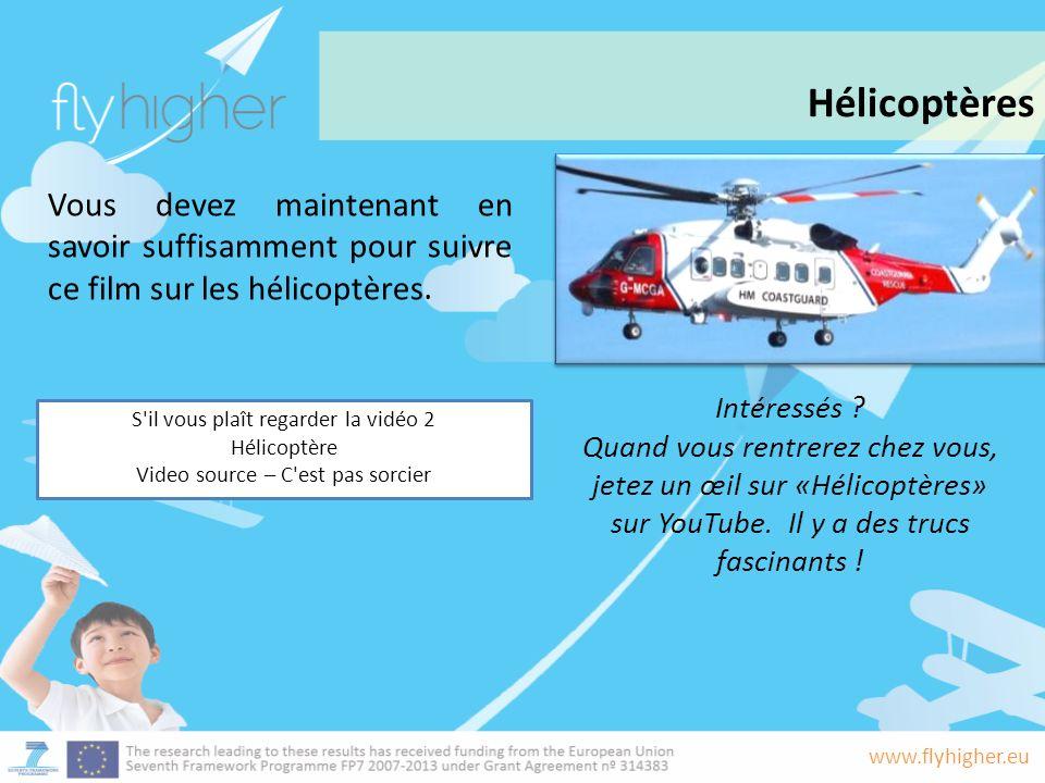 www.flyhigher.eu Vous devez maintenant en savoir suffisamment pour suivre ce film sur les hélicoptères.