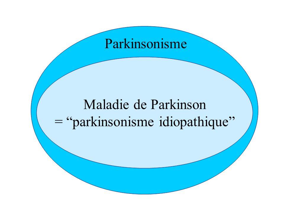 Maladie de Parkinson = parkinsonisme idiopathique Parkinsonisme