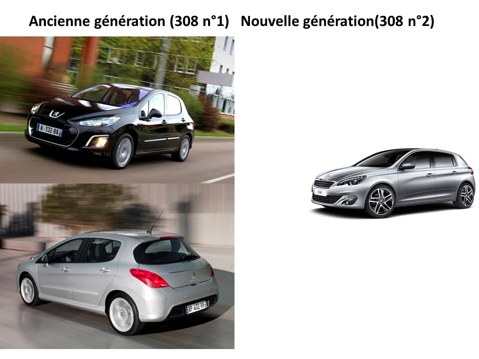 Ancienne génération (308 n°1) Nouvelle génération(308 n°2)