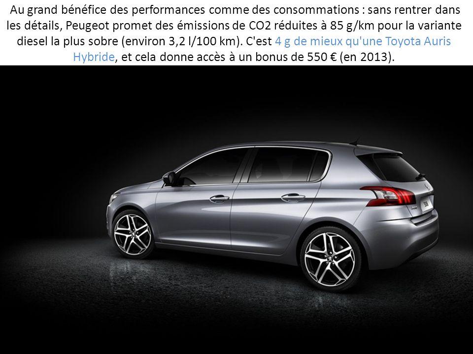 Au grand bénéfice des performances comme des consommations : sans rentrer dans les détails, Peugeot promet des émissions de CO2 réduites à 85 g/km pou