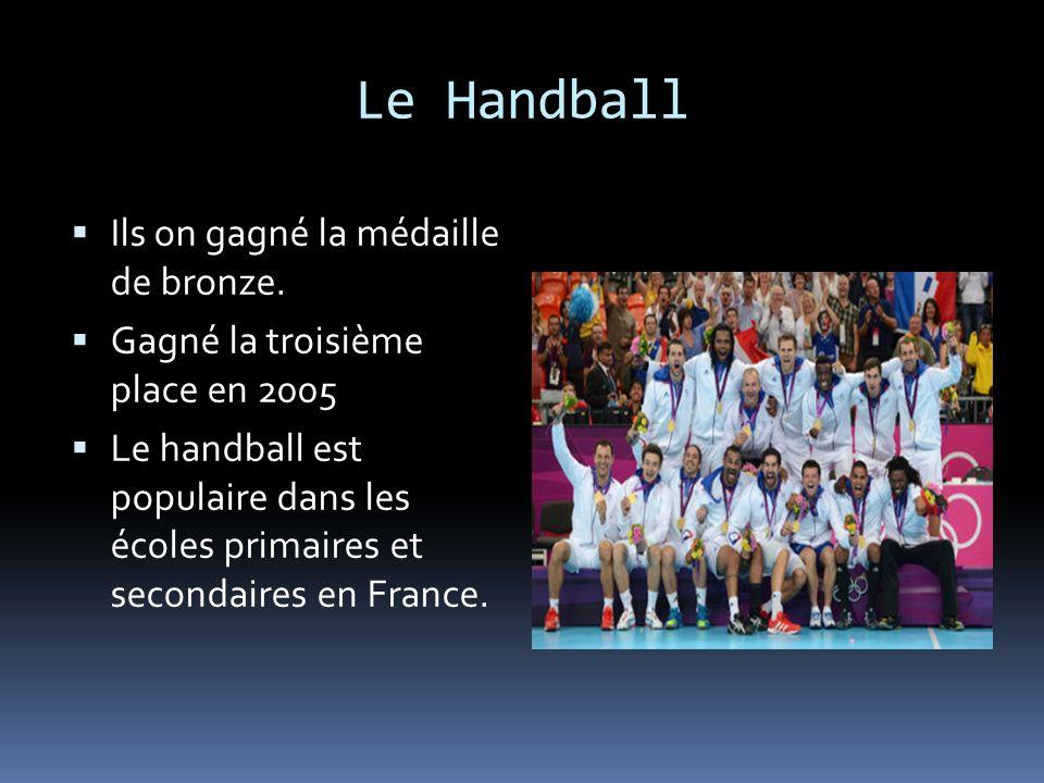 Le Handball Ils on gagné la médaille de bronze. Gagné la troisième place en 2005 Le handball est populaire dans les écoles primaires et secondaires en