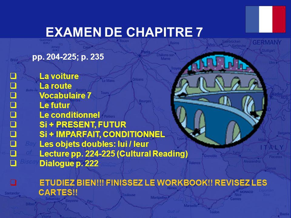 EXAMEN DE CHAPITRE 7 pp.204-225; p.