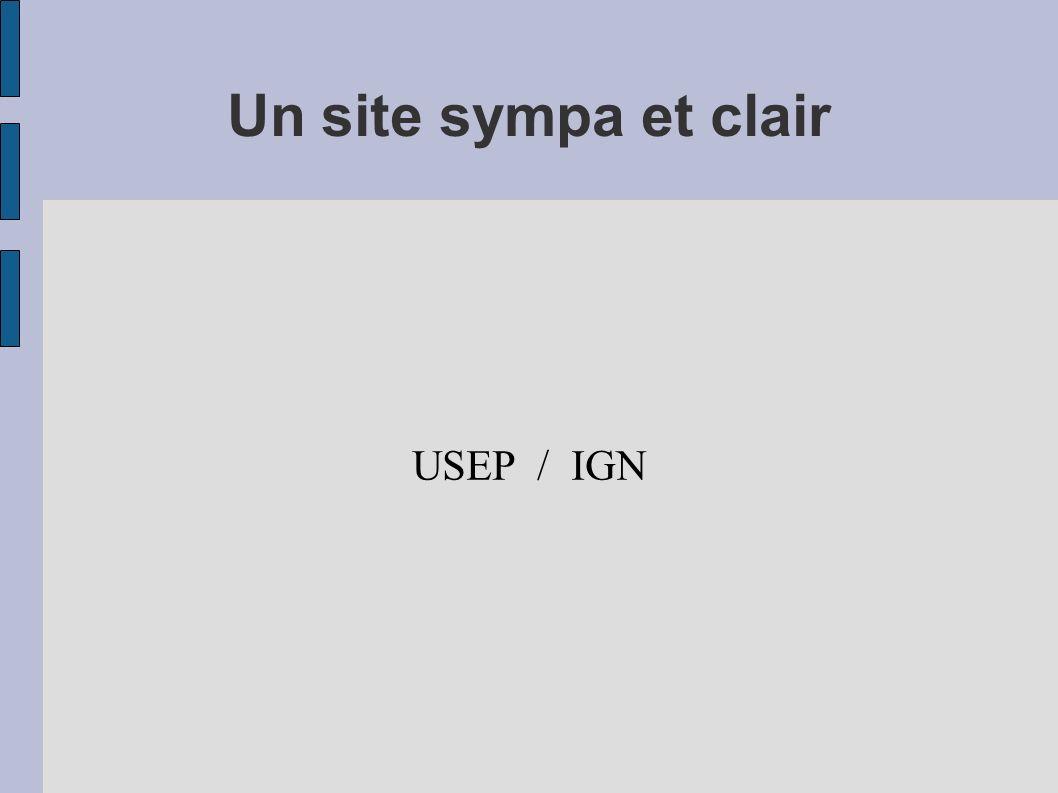 Un site sympa et clair USEP / IGN