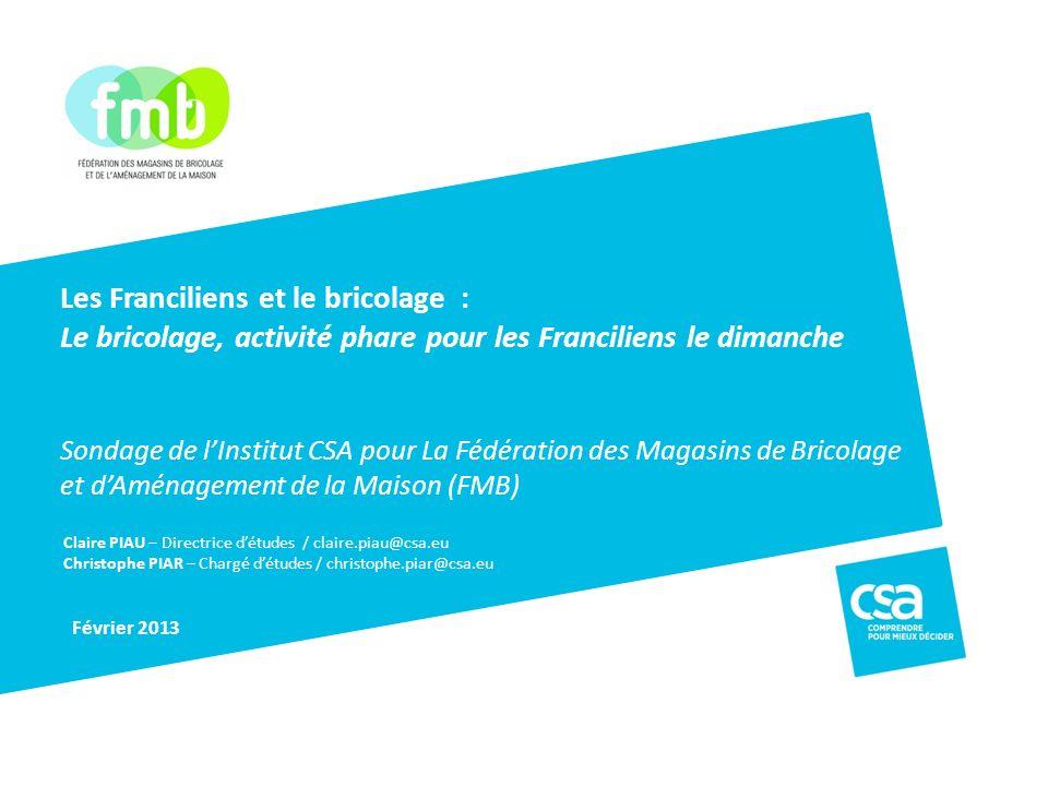 Logo client Claire PIAU – Directrice détudes / claire.piau@csa.eu Christophe PIAR – Chargé détudes / christophe.piar@csa.eu Février 2013 Les Francilie