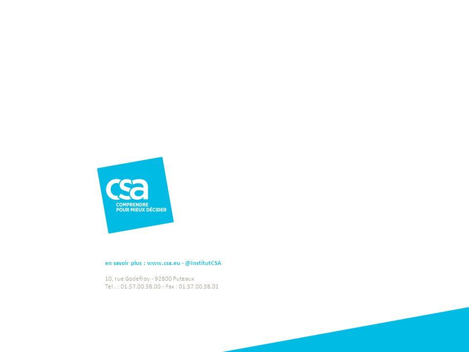 en savoir plus : www.csa.eu - @InstitutCSA 10, rue Godefroy - 92800 Puteaux Tel. : 01.57.00.58.00 - Fax : 01.57.00.58.01 Titre du projet23