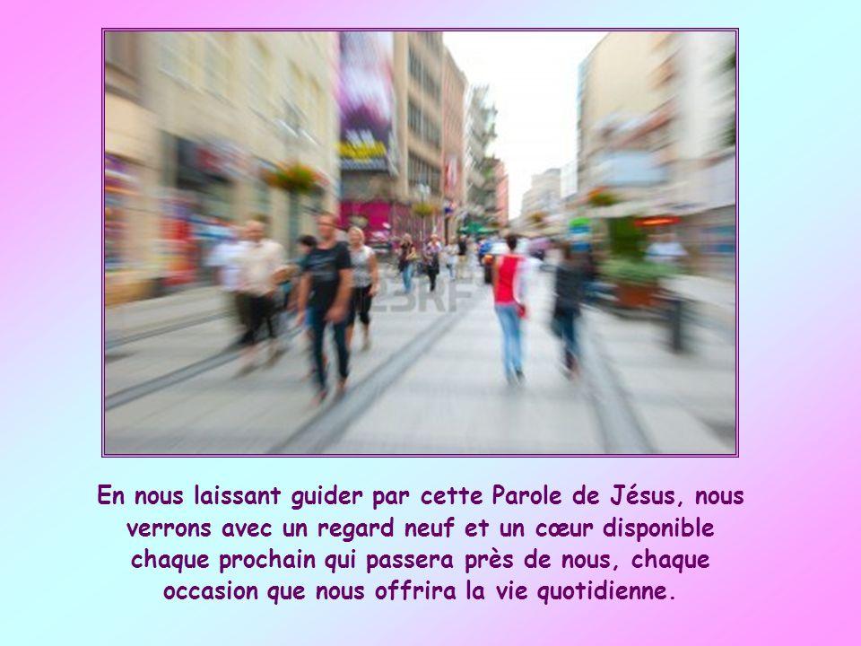 Nous nous efforcerons de devenir des instruments de la libéralité de Dieu, en faisant aussi participer les autres aux dons de la nature et de la grâce