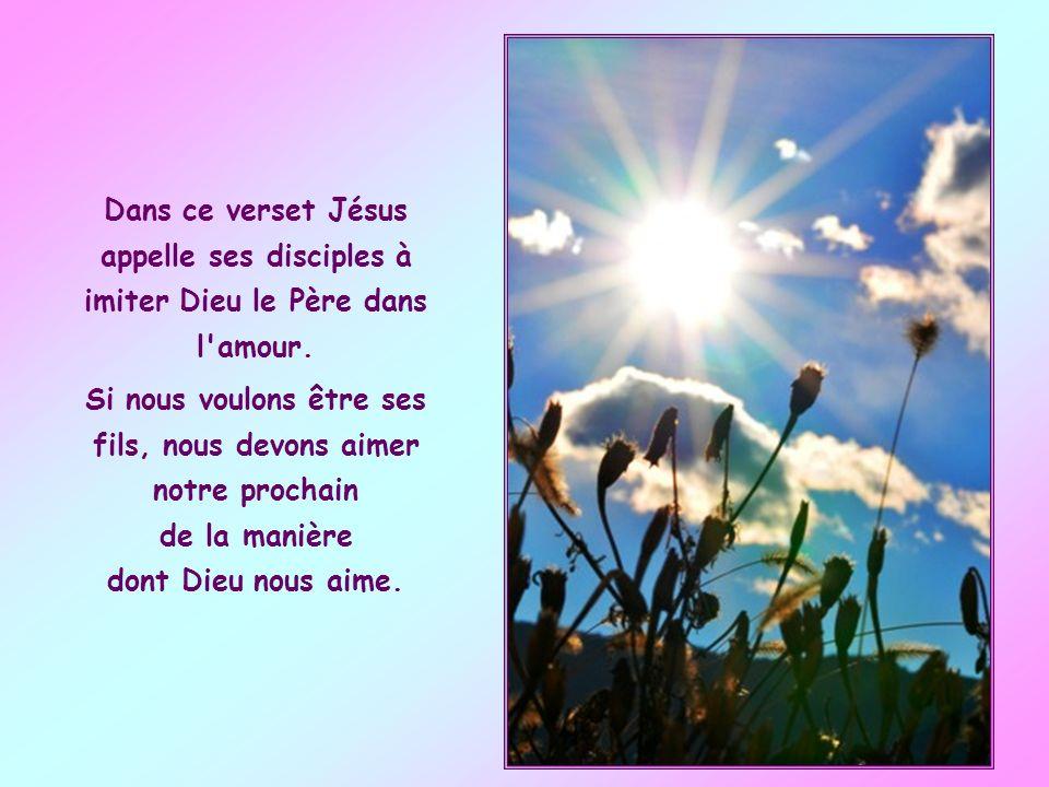 Jésus y décrit les exigences du Royaume de Dieu et les caractéristiques de ceux qui en font partie. Celles-ci se réfèrent à l'imitation du Père du cie