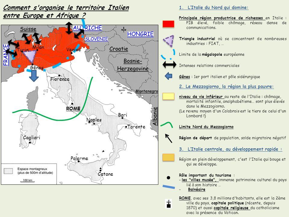 Turin Gênes ROME Cagliari Palerme Catane Naples Bari Florence Venise Tarente Milan 1.