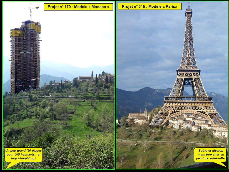 Projet n° 170 : Modèle « Monaco » Projet n° 315 : Modèle « Paris» Sobre et discret, mais trop cher en peinture antirouille.