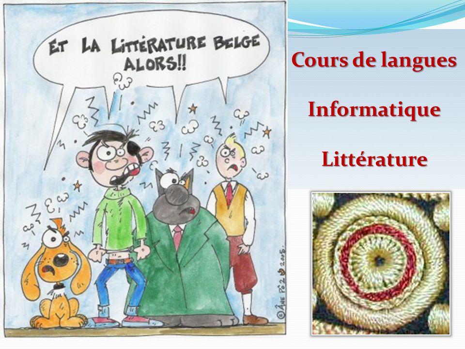 Cours de langues InformatiqueLittérature