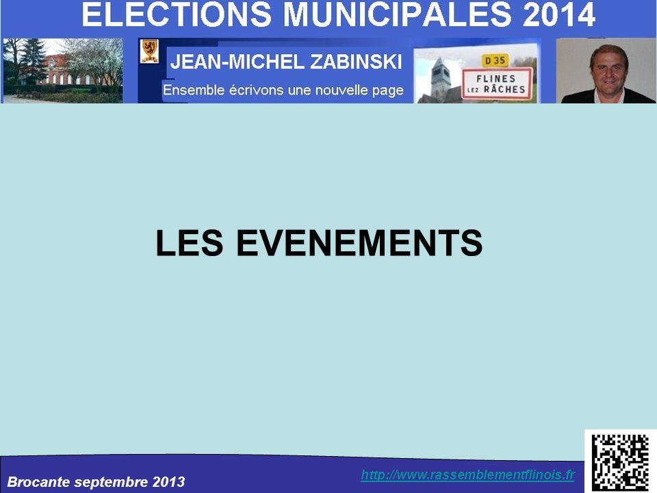Brocante septembre 2013 http://www.rassemblementflinois.fr LES EVENEMENTS
