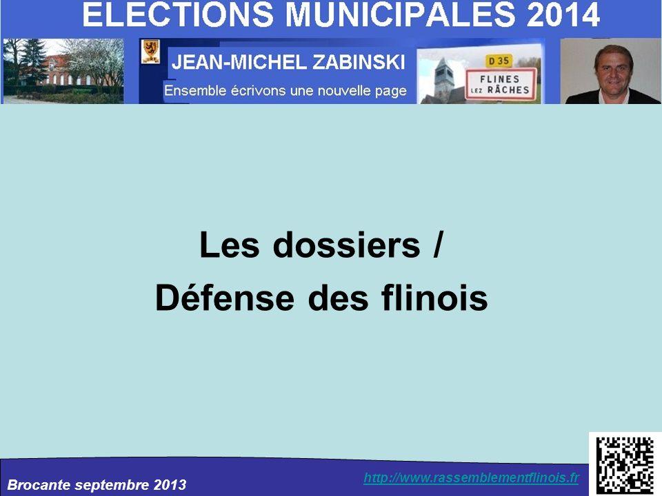 Brocante septembre 2013 http://www.rassemblementflinois.fr Les dossiers / Défense des flinois