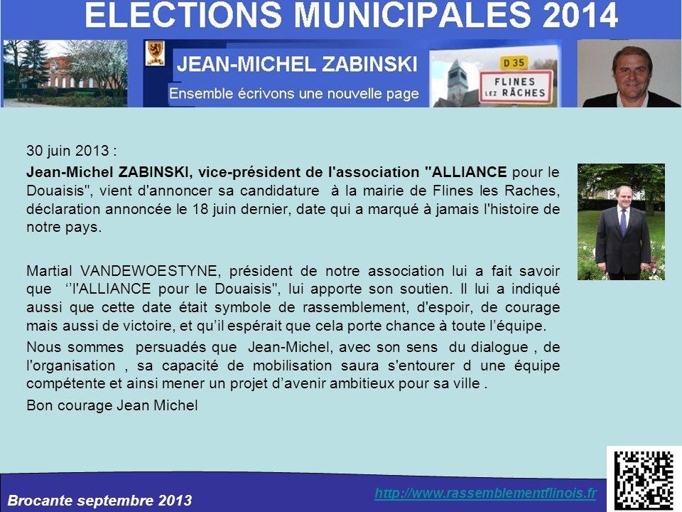 Brocante septembre 2013 http://www.rassemblementflinois.fr 2011 Vœux 2011