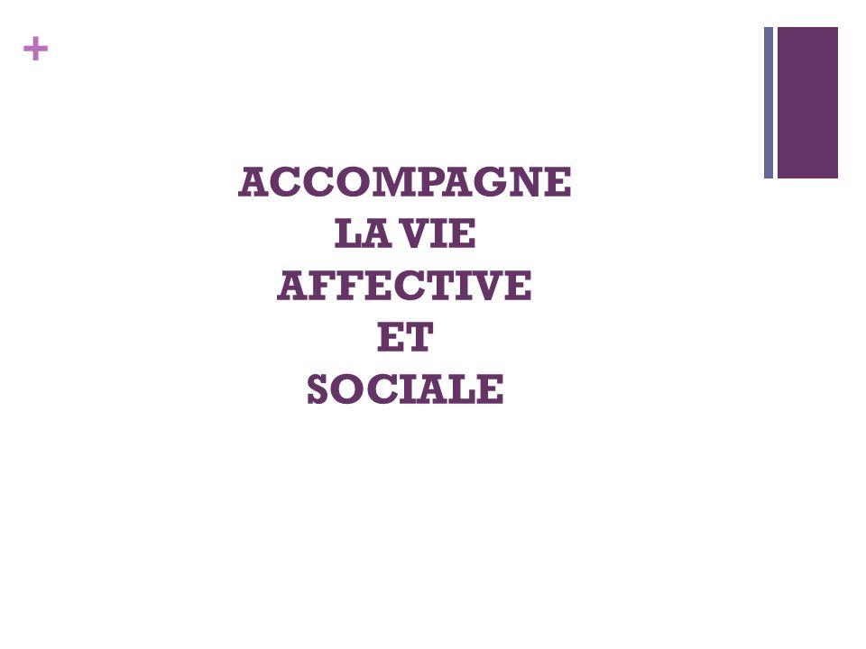 + ACCOMPAGNE LA VIE AFFECTIVE ET SOCIALE