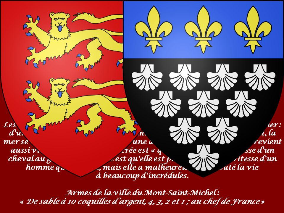 La baie Le mont Saint-Michel (l îlot ou l abbaye) a donné à son tour son nom à la baie du mont Saint-Michel.