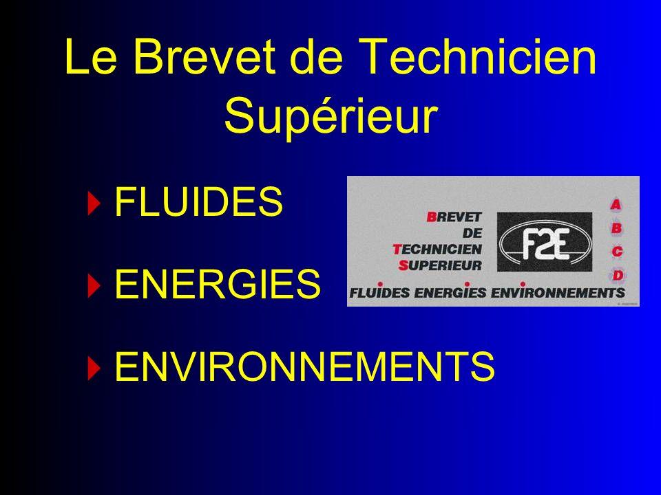 FLUIDES Le Brevet de Technicien Supérieur ENERGIES ENVIRONNEMENTS