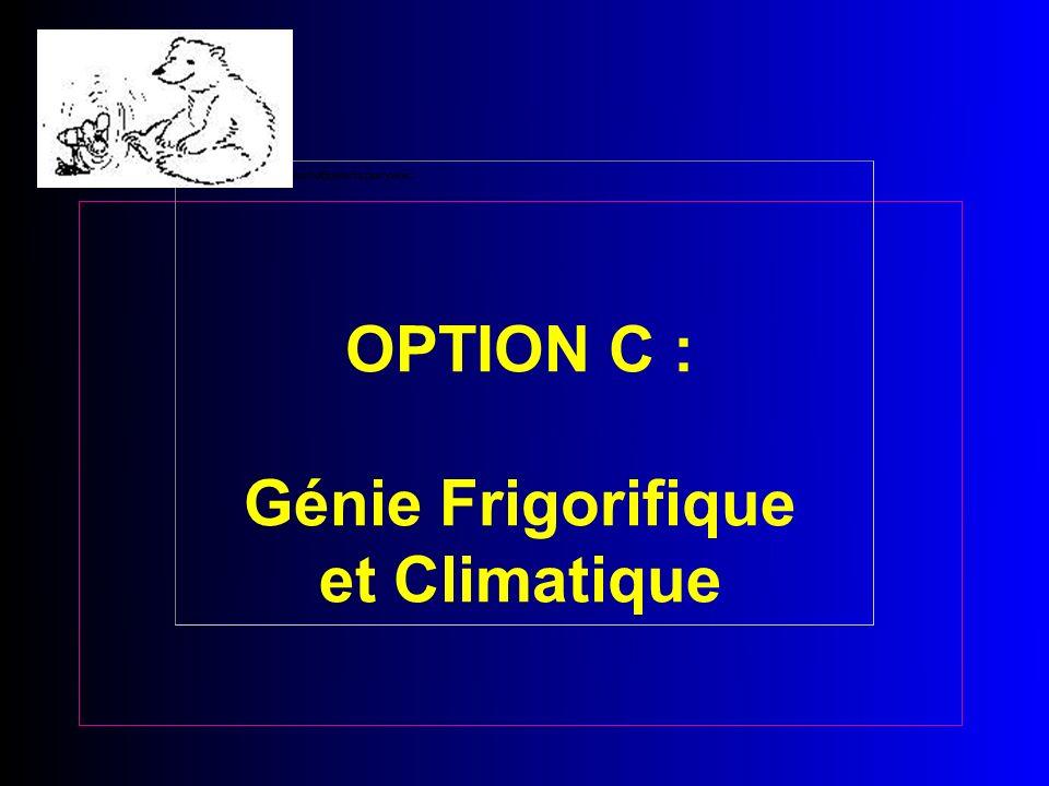 OPTION C : Génie Frigorifique et Climatique