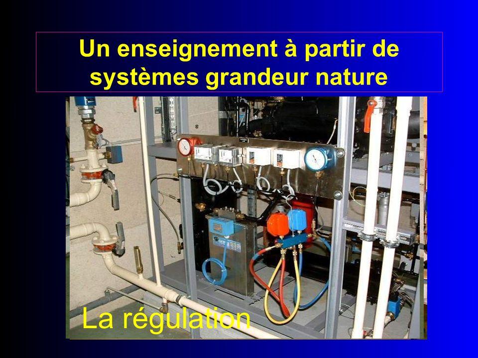 Un enseignement à partir de systèmes grandeur nature Les chambres froides La machinerie La régulation