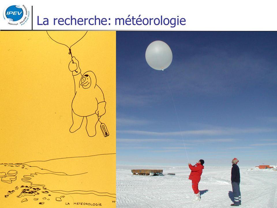 La recherche: météorologie
