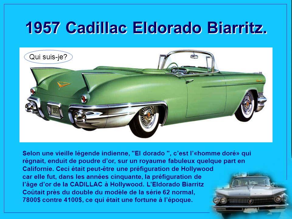 1957 Chrysler 300C Convertible. Qui suis-je? Lintérieur en cuir naturel, fait dans la simplicité, même si on ne remarque pas le compteur gradué jusquà
