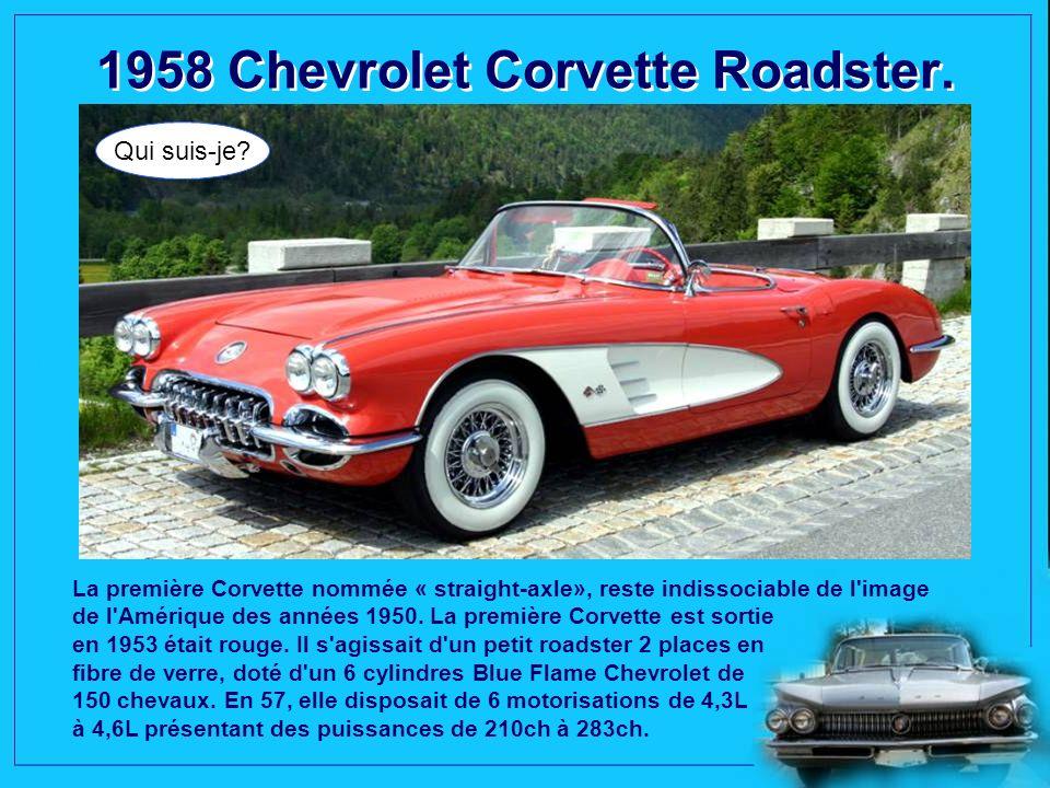 1957 Cadillac Eldorado Biarritz. Qui suis-je? Selon une vieille légende indienne,