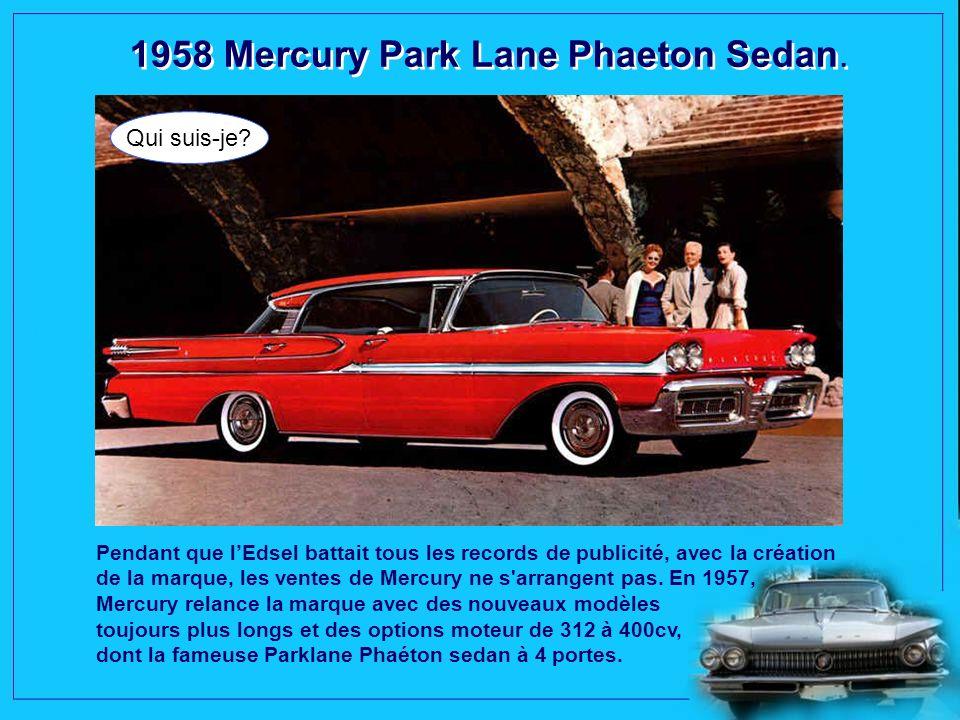 1958 Cadillac Fleetwood Sixty Special. La mécanique du modèle est commune aux autres Cadillac. Un moteur V8 de 5,4 litres et 160 ch, à partir de la Sé