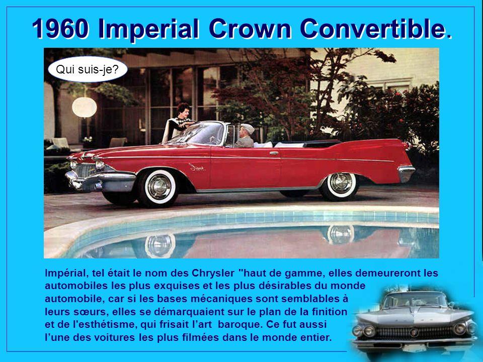 1960 Lincoln Continental Mark V 4 portes Landau. Qui suis-je? Les Lincoln sont les premières américaines livrées de série avec des pneus à carcasse ra