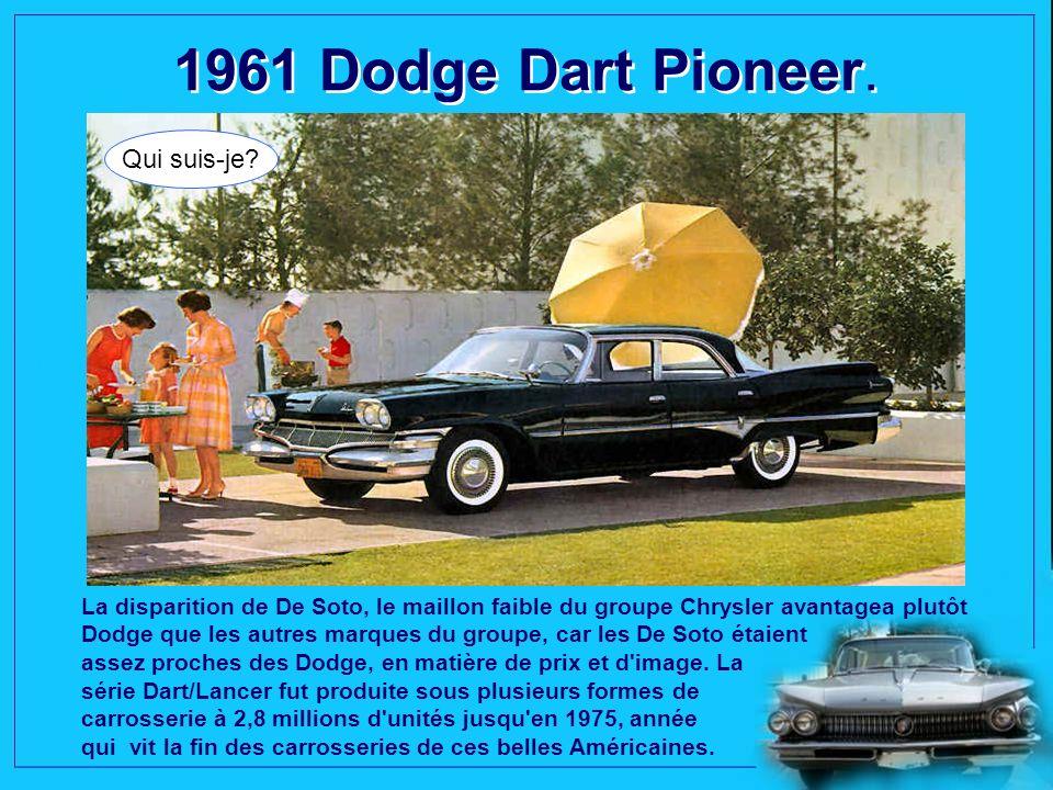1960 Imperial Crown Convertible. Qui suis-je? Impérial, tel était le nom des Chrysler
