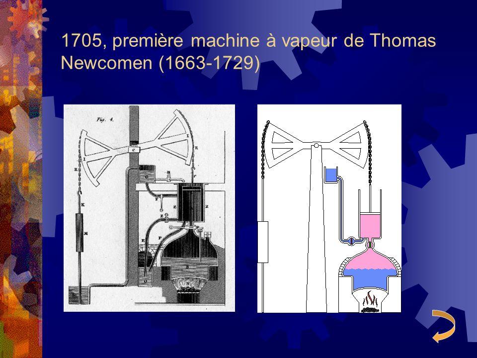 1705, première machine à vapeur de Thomas Newcomen (1663-1729)