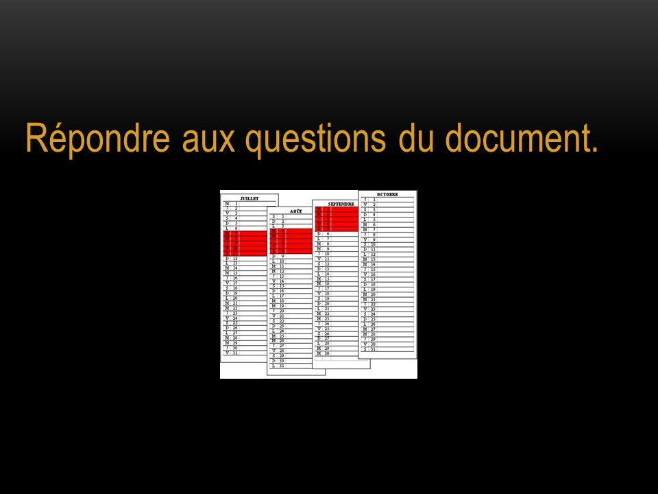 Répondre aux questions du document.