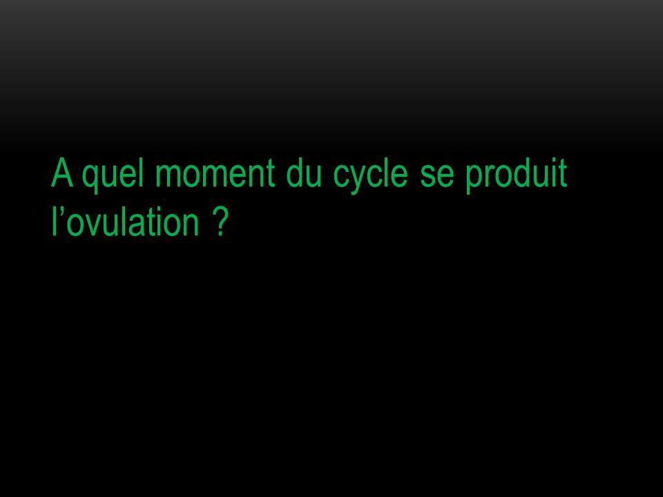 A quel moment du cycle se produit lovulation ?