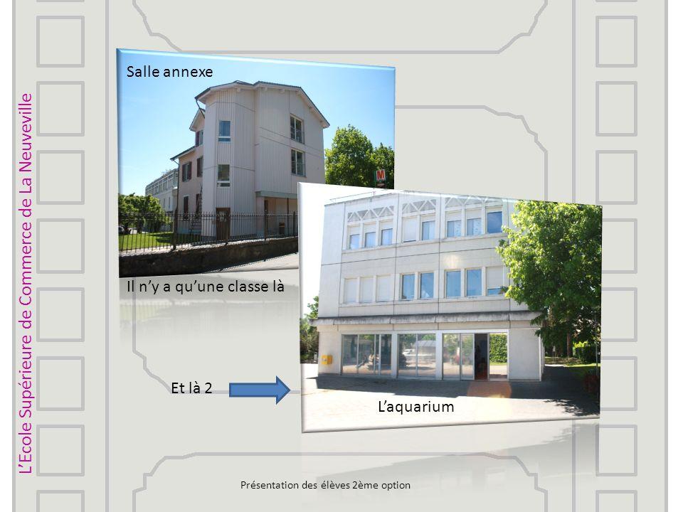 LEcole Supérieure de Commerce de La Neuveville 100 e anniversaire 01.09.2012Présentation des élèves 2ème option Bâtiment dinformatique