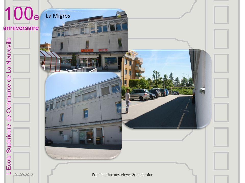 Salle annexe Il ny a quune classe là Et là 2 Laquarium Présentation des élèves 2ème option LEcole Supérieure de Commerce de La Neuveville