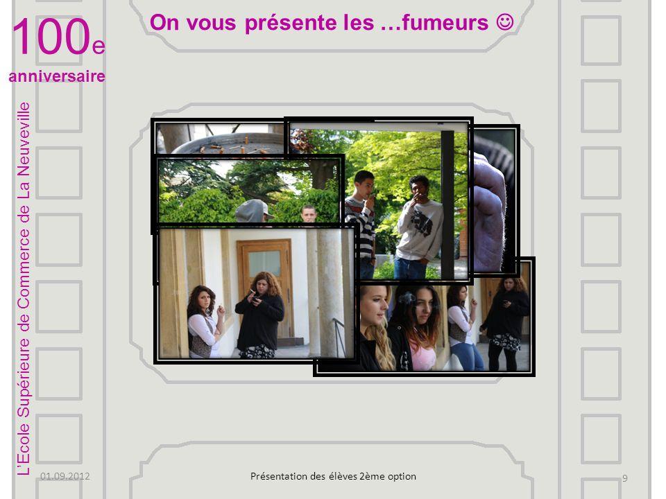 100 e anniversaire 01.09.2012Présentation des élèves 2ème option La Migros