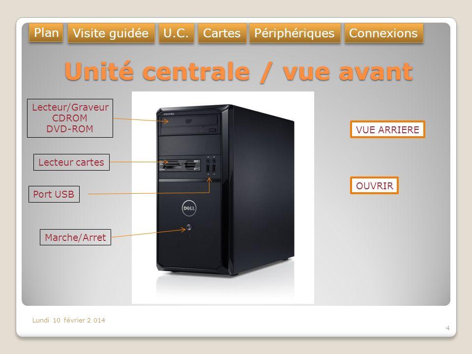 Unité centrale / vue arrière 5 Port USB (souris, clé USB …) Utilisé aussi pour lensemble des périphériques Port RJ45 Connexion réseau Port HDMI Sortie Vidéo (carte mère) Prise JACK Enceintes, casque micro … Prise alimentation Carte graphique Sortie Vidéo Port HDMI Port USB 3 (bleu) Zoomer Plan Visite guidée U.C.