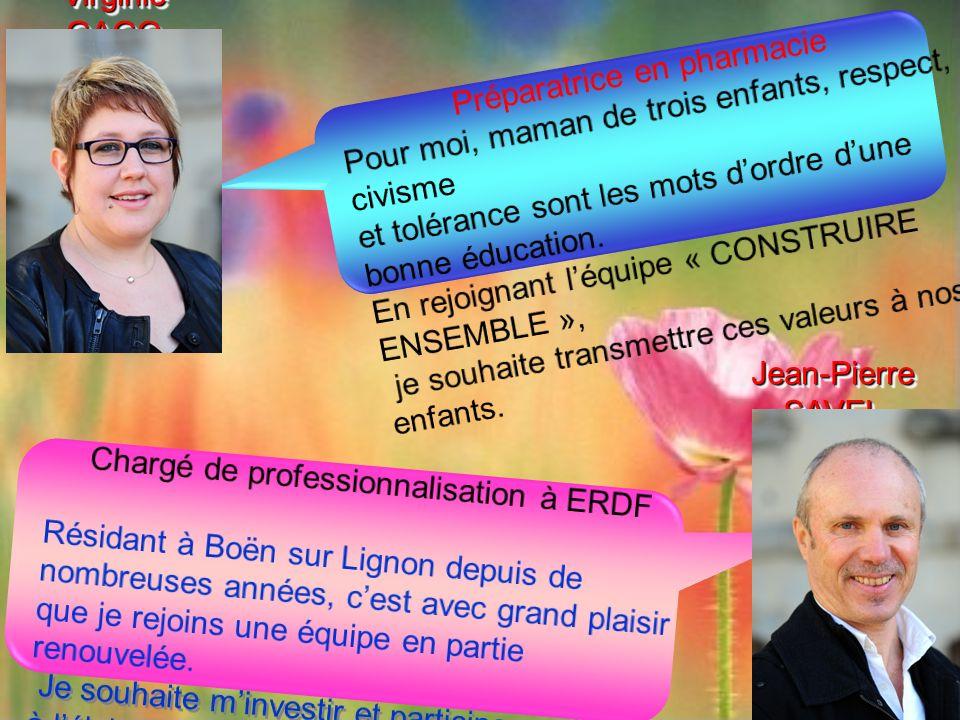 Chargé de professionnalisation à ERDF Résidant à Boën sur Lignon depuis de nombreuses années, cest avec grand plaisir que je rejoins une équipe en par