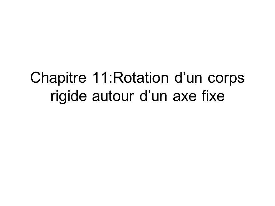 Chapitre 11:Rotation dun corps rigide autour dun axe fixe