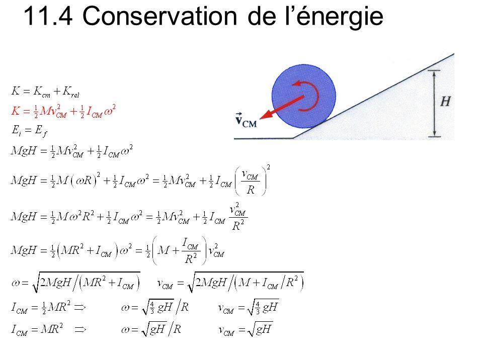 11.4 Conservation de lénergie