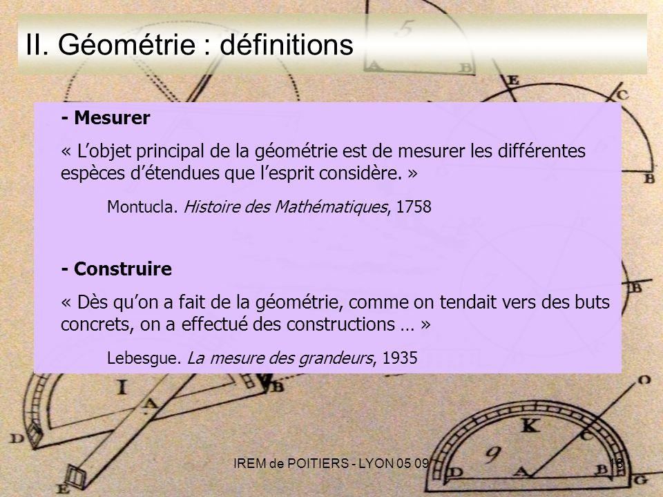 IREM de POITIERS - LYON 05 0918 II.