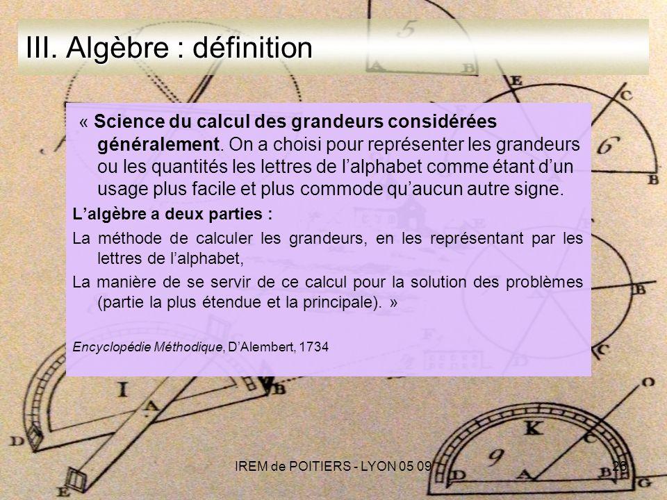 IREM de POITIERS - LYON 05 0923 III.