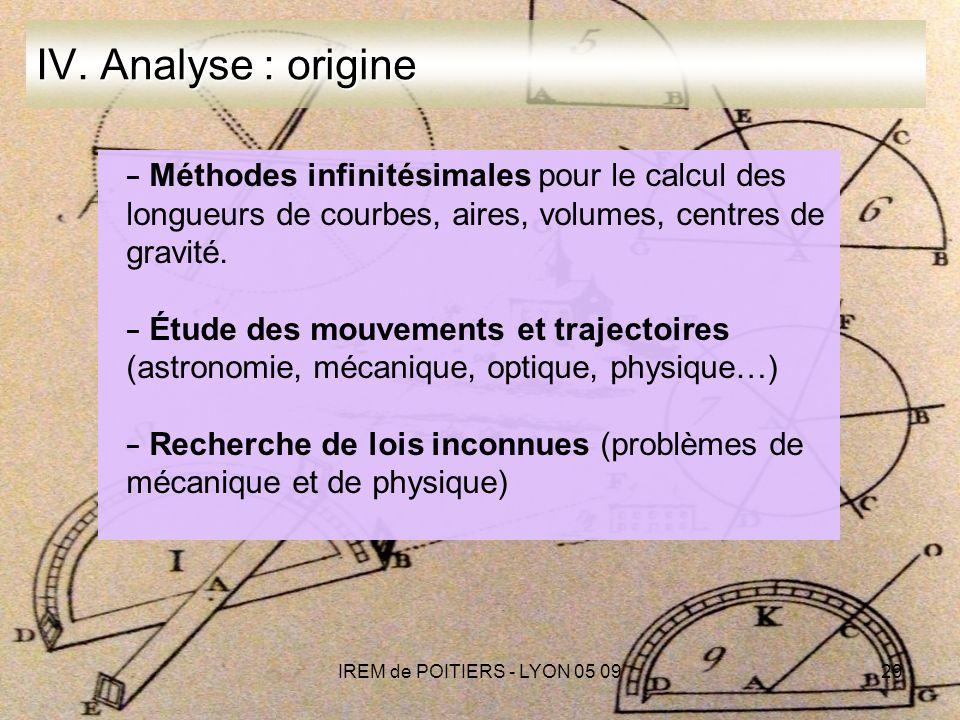 IREM de POITIERS - LYON 05 0929 IV.