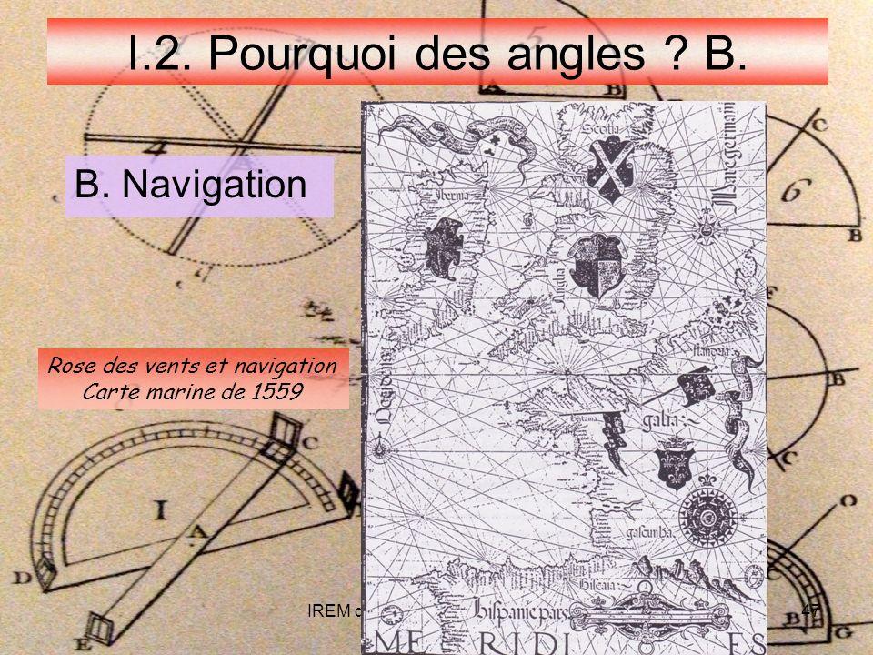 IREM de POITIERS - LYON 05 0947 I.2.Pourquoi des angles .