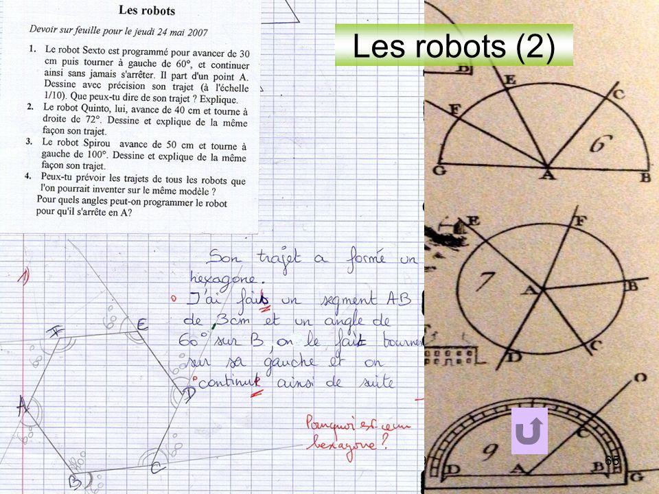 IREM de POITIERS - LYON 05 0965 Les robots (2)