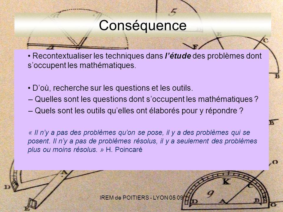 « Loubli de la notion de grandeur ferme les mathématiques sur elles-mêmes.