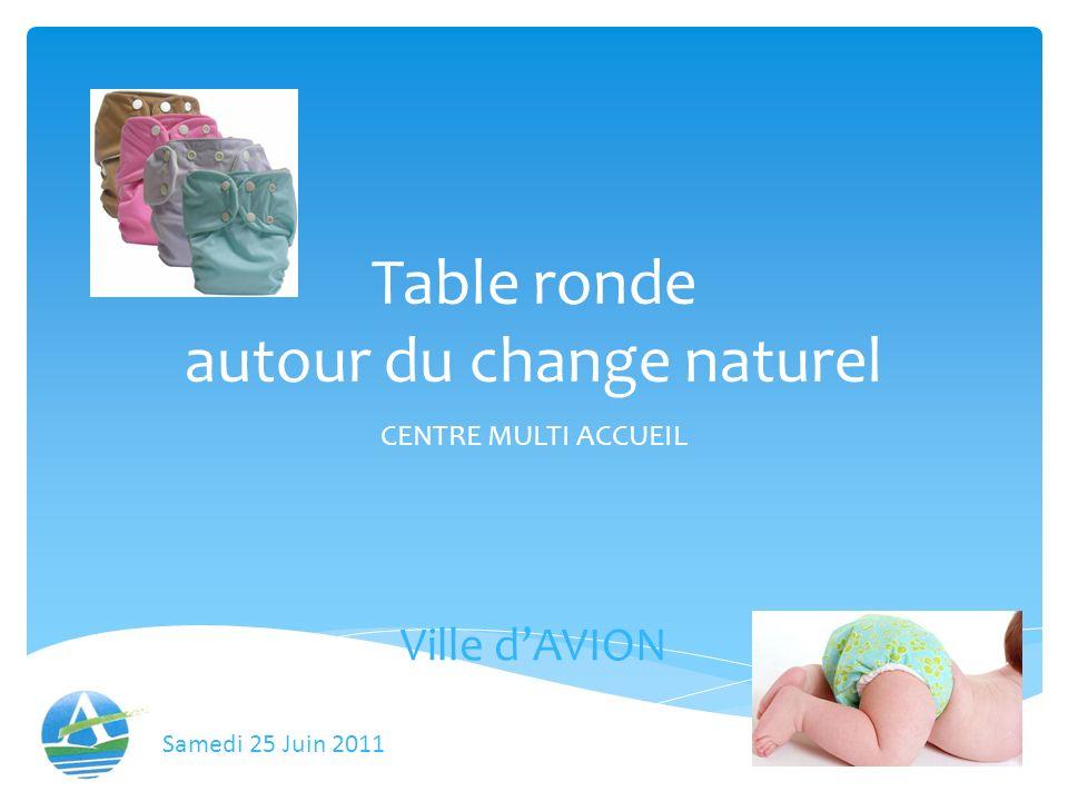 Table ronde autour du change naturel CENTRE MULTI ACCUEIL Ville dAVION Samedi 25 Juin 2011