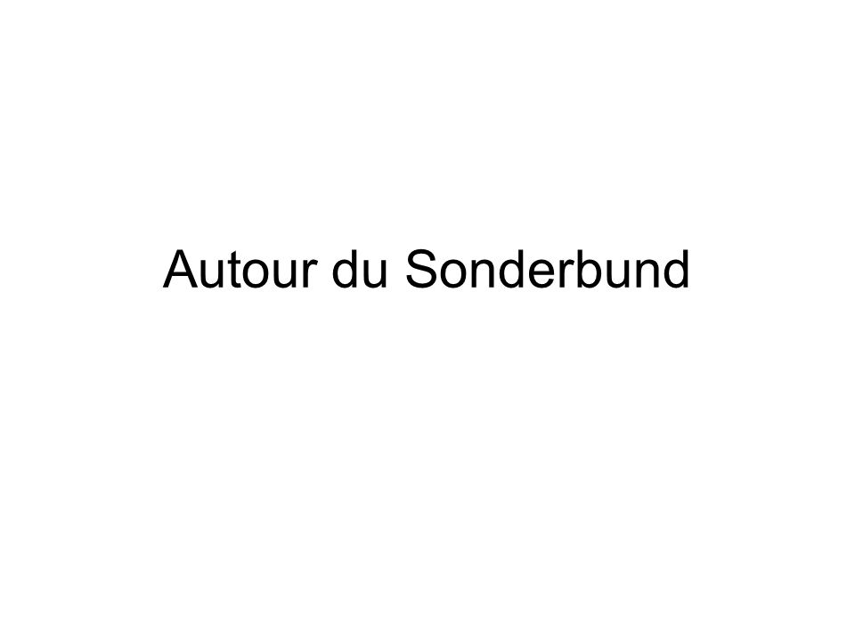 2 Plan de la séance Présentation Médiation et Restauration Le Sonderbund, avant et après Perception(s) de vaincus