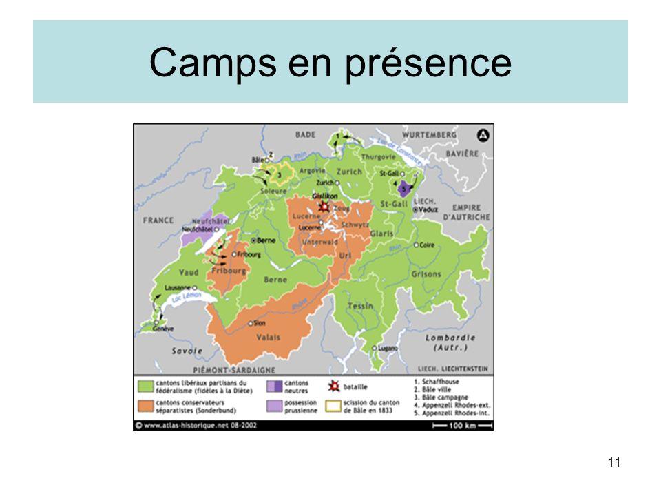 11 Camps en présence