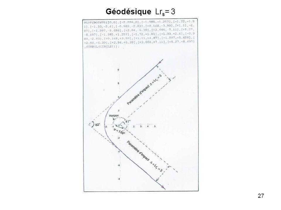 27 Géodésique Lr s = 3