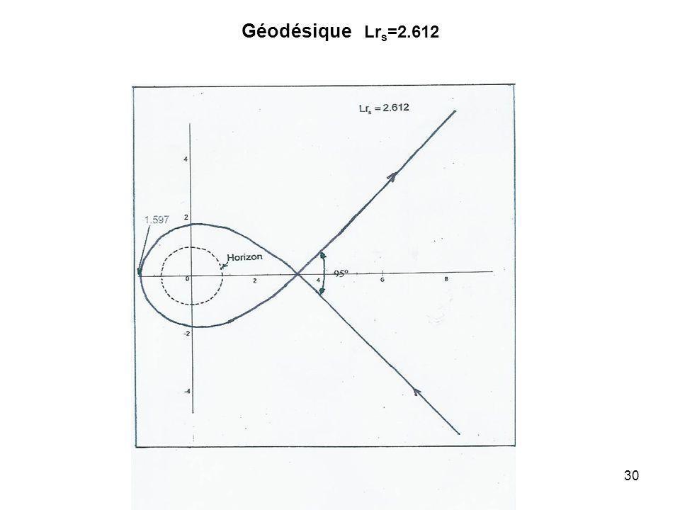 30 Géodésique Lr s =2.612