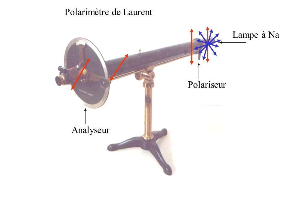 Polarimètre de Laurent Lampe à Na Polariseur Analyseur